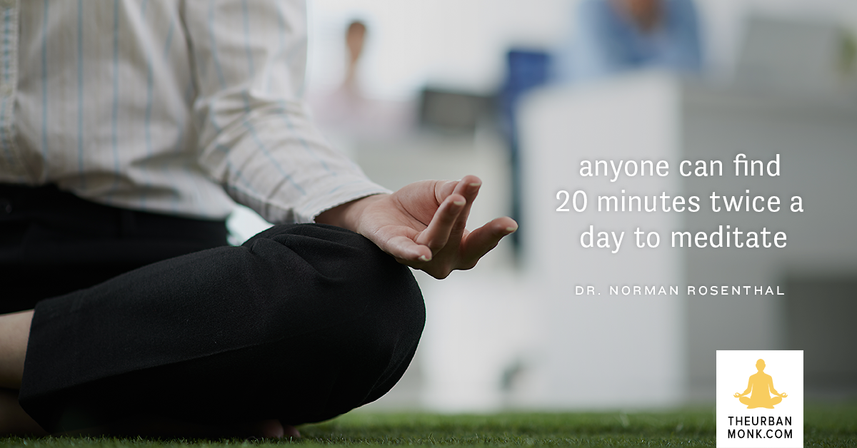 Setting Aside 20min x 2 A Day Isn't Impossible - @DoctorNorman via @PedramShojai
