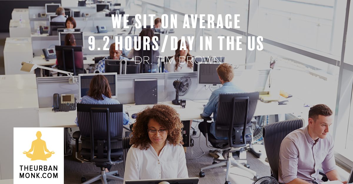 We Sit On Average 9.2 Hours/Day In The US - @IntelliSkin via @PedramShojai