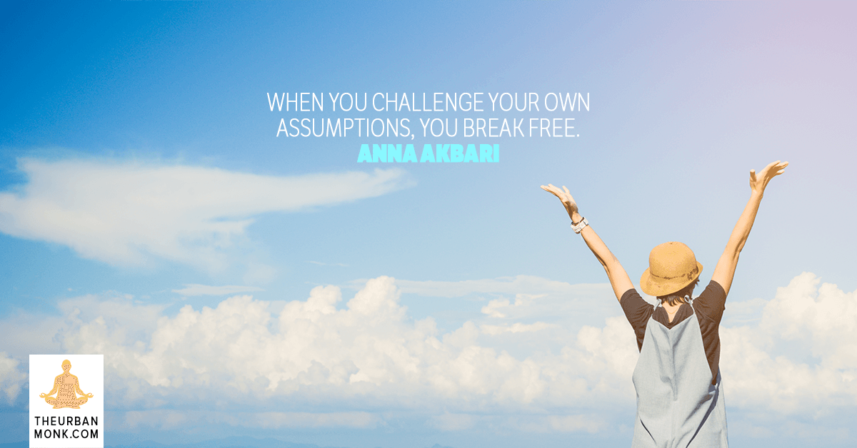 When You Challenge Your Own Assumptions, You Break Free. - @annaakbari via @Pedramshojai