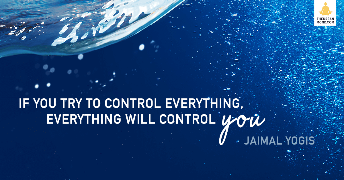 If You Try To Control Everything, Everything Will Control You - Jaimal Yogis via @PedramShojai